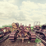 rusted machines