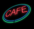 Neon Cafe sign.