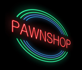 Neon Pawnshop sign.