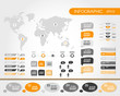 orange world infographics with people