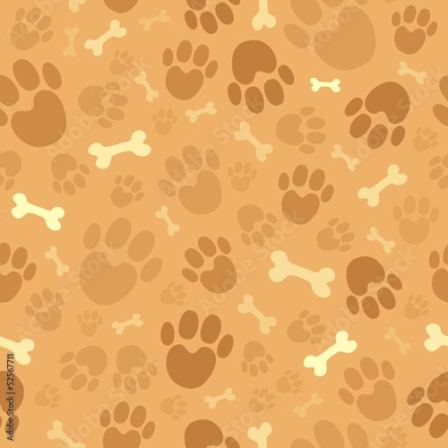 Dog theme seamless background 1