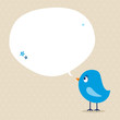 Blue Bird Speech Bubble