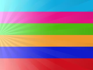 Sfondo astratto con linee colorate sfumate e raggi luminosi