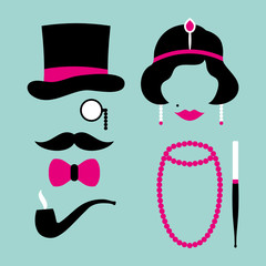 Man & Woman 20s Pink/Turquoise