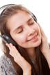 Teenager in earphones