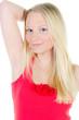 attraktive junge blonde frau