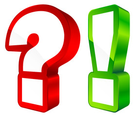 Icons Question & Answer 3D Red/Green