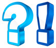 Icons Question & Answer 3D Blue/White