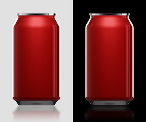 3d red can in isolated background