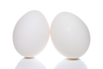 Easter eggs  isolated on a white