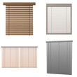 collection of 3d renders - blinds