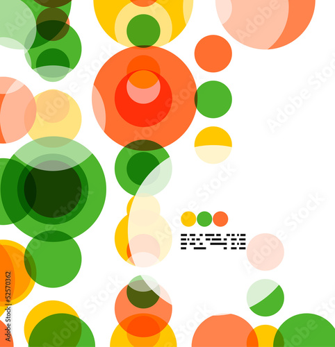 Colorful geometrical circles background