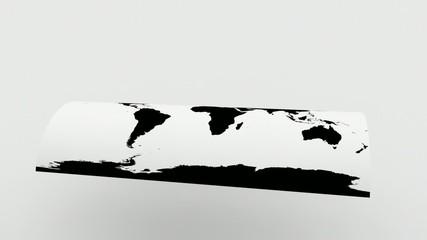 Folding globe.