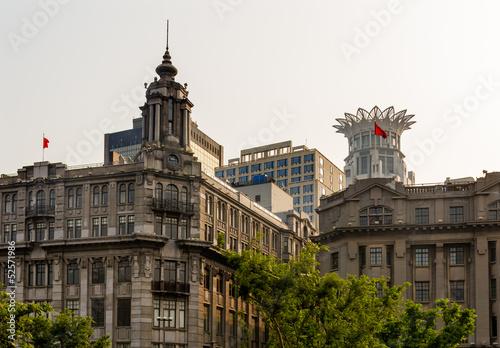 Old Buildings Modern Buildings Bund Shanghai China