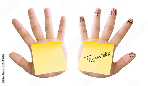 Sticky Note On Palm Hand  Concept