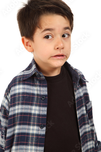 Male child with fear expression