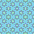 Flower seamless pattern with blue bells