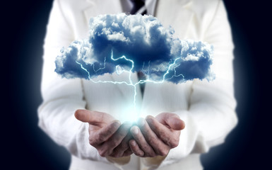 concepto de energia.Nube y tormenta