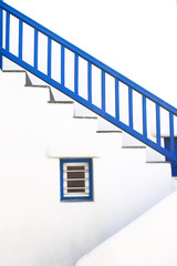 Staircase of typical house in Mykonos island
