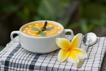 Тыквенный суп-крем/ Pumpkin cream soup