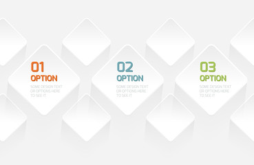 Modern Origami style options banner