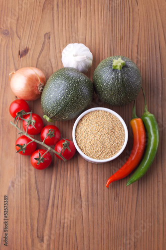 Mixed vegetables with couscous