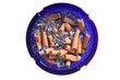 Ashtray full of cigarettes (white background)