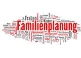 Familenplanung (Familie, Schwangerschaft, Kind; tagcloud)