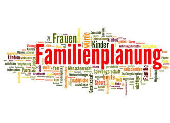 Familienplanung (Familie, Schwangerschaft, Kind; tagcloud)