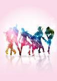 Fototapety Persone giovani che ballano ad un party