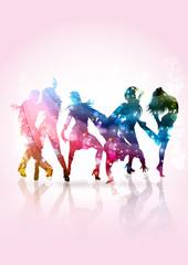 Persone giovani che ballano ad un party