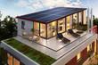 Leinwanddruck Bild - Solar panels on the roof of the penthouse