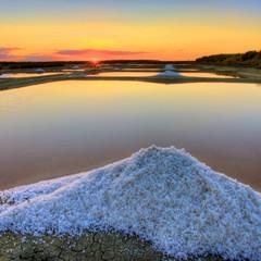 marais salants avec sel de Guérande