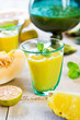 Pineapple with Orange and Melon smoothie