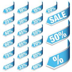 """Arrows Set """"Sale"""" Blue"""