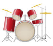 drum set vector illustration - 52578137