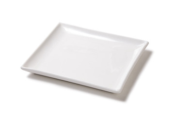 White empty plate of earthenware