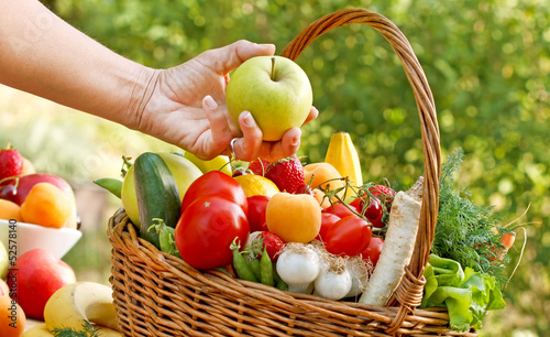 Fresh fruits and vegetables - healthy, organic food