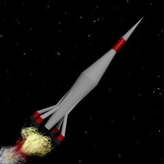 Cohete volando