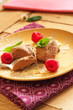 Mousse au chocolat mit Himbeeren