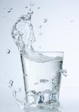 water splash in glasses poster
