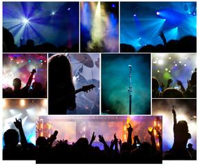 Crowd ar concert-collage