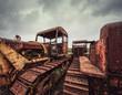 rusting tractors