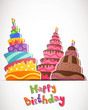 Vector Illustration of a Happy Birthday Card