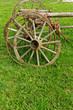 old wooden wheel spokes,
