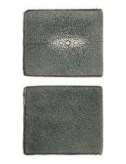 Stingray leather wallet isolated on white background