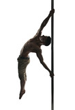 Fototapety Young strong pole dance man