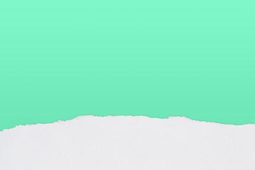 Papierfransen, horizontal unten, weiss, türkis