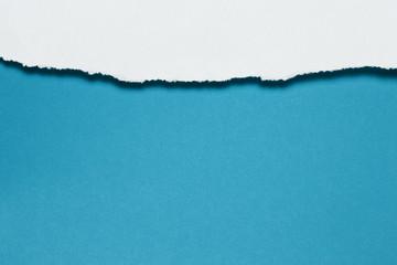 Papierfransen, horizontal oben, weiss, kobaltblau