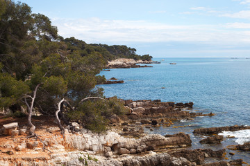 Sainte-Margurite island at Cannes, France.
